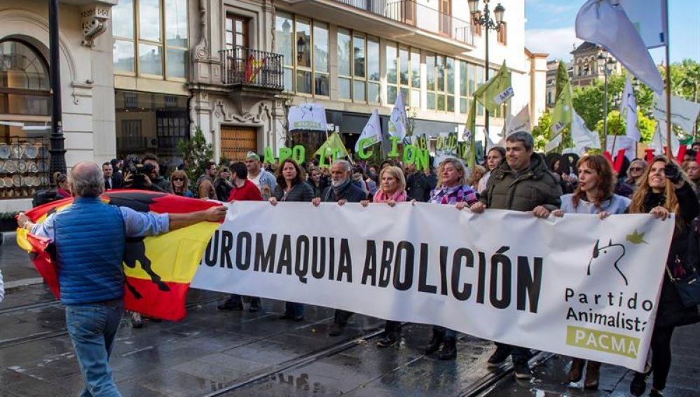 Manifestación de Pacma en Sevilla
