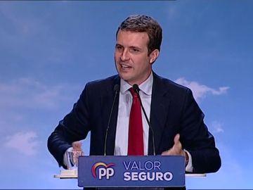 """Casado: """"La gente en la calle está harta de Sánchez, Otegi y Torra"""""""