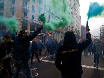 Imagen de la manifestación de Jusapol