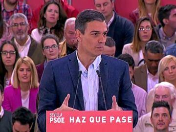 """Pedro Sánchez asegura que su partido es el único """"sentato y cabal"""" para hacer frente a la desigualdad social, la convivencia y la lucha contra la corrupción"""