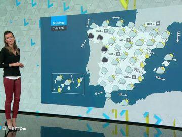 El domingo continúan las lluvias en gran parte del país