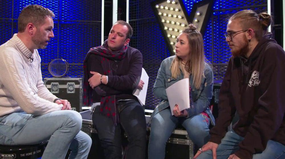 Los finalistas, nerviosos y expectantes al conocer que cantarán junto a los artistas invitados en la final de 'La Voz'