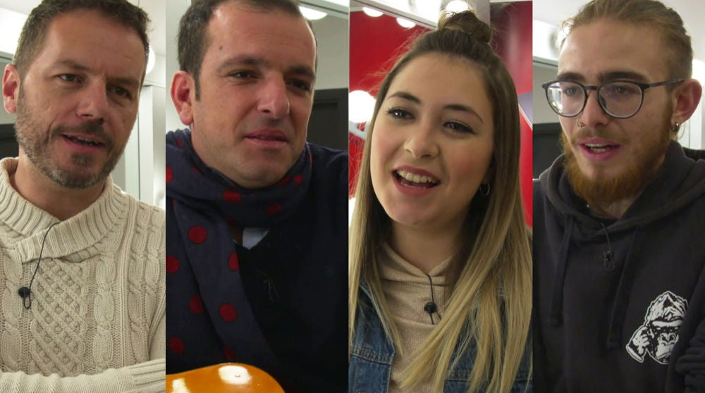 Andrés Martín, Javi Moya, María Espinosa y Ángel Cortés, finalistas de 'La Voz', piden el voto a los espectadores