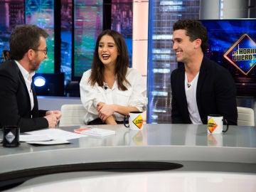 María Pedraza y Jaime Lorente 'trolean' a Pablo Motos con su ruptura