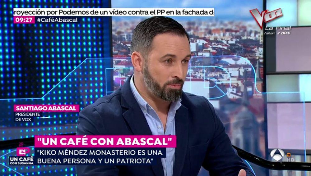 Los 10 titulares de santiago abascal en la entrevista en for Antena 3 espejo publico hoy