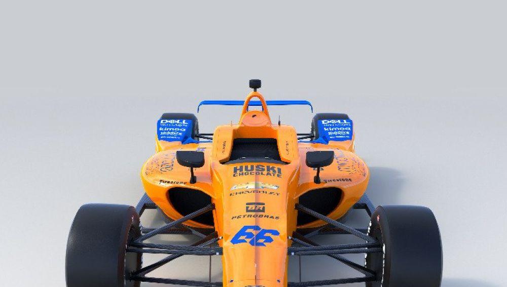 El McLaren de Fernando Alonso para disputar las 500 Millas de Indianápolis