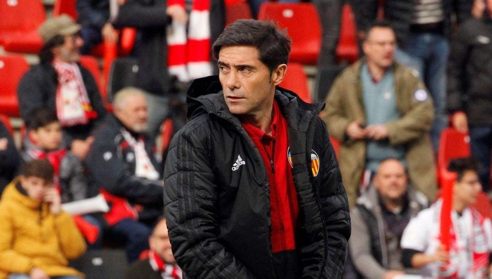El técnico del Valencia, Marcelino García Toral