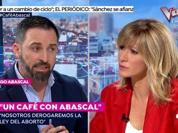 """Encontronazo entre Susanna Griso y Santiago Abascal por la ley del aborto: """"Susanna, tu cuerpo es tuyo pero el que llevas dentro no"""""""
