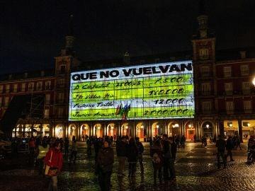 La fachada de la Casa de la Panadería de la Plaza Mayor de Madrid