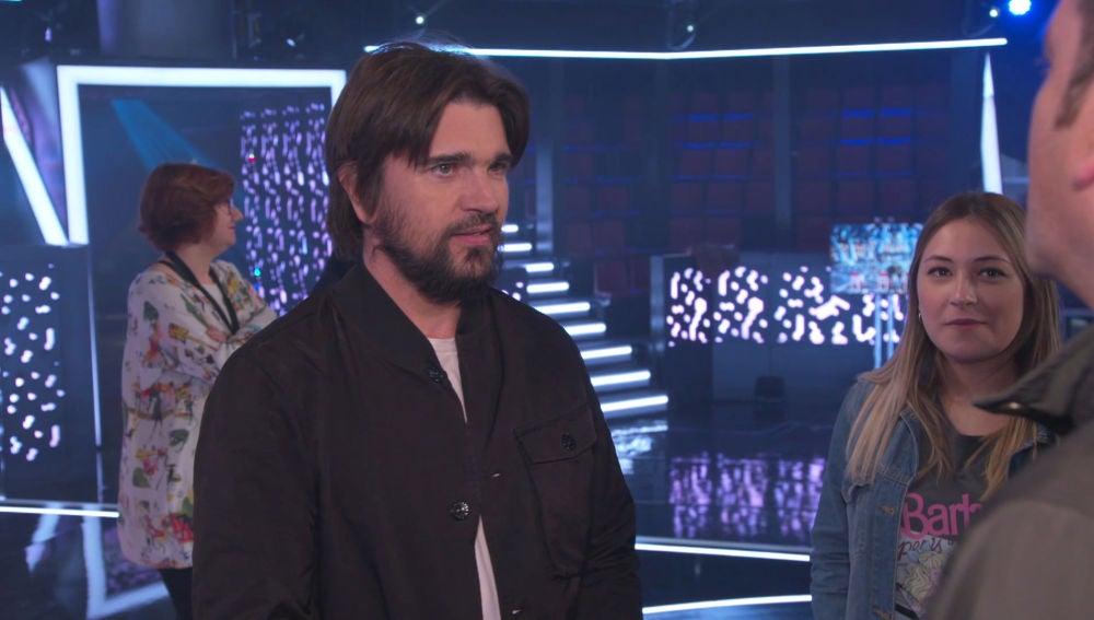 Los finalistas de 'La Voz' conocen a Juanes entre emoción y muchos nervios