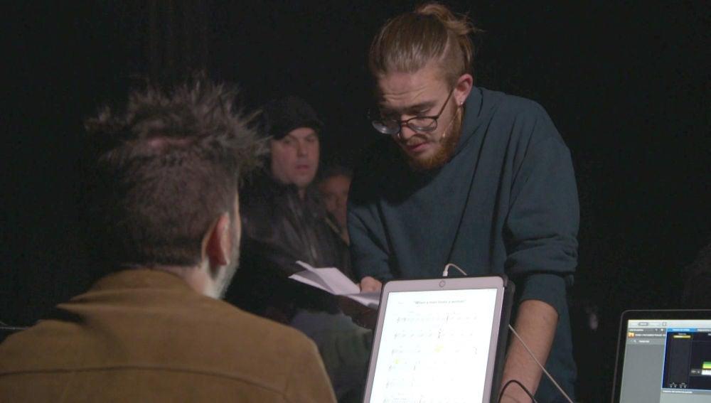 Andrés Martín se deja la piel en sus ensayos junto a Pablo López para la Final de 'La Voz'