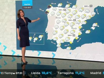 Bajan las temperaturas, con lluvias especialmente fuertes en Galicia