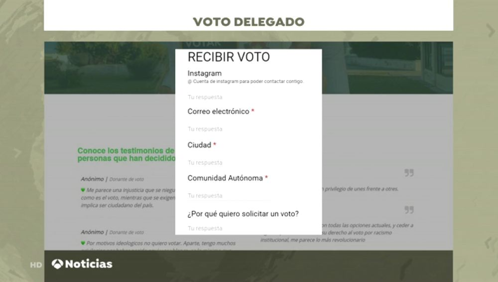 'Dona tu voto', la plataforma que une a los abstencionistas con quienes no pueden votar