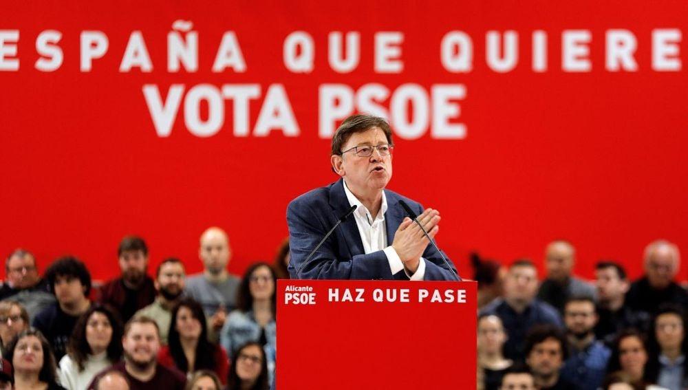Ximo Puig en un acto electoral