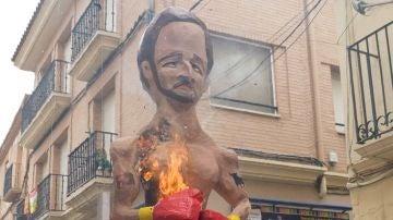 Uno de los 'judas' quemados en Alfaro