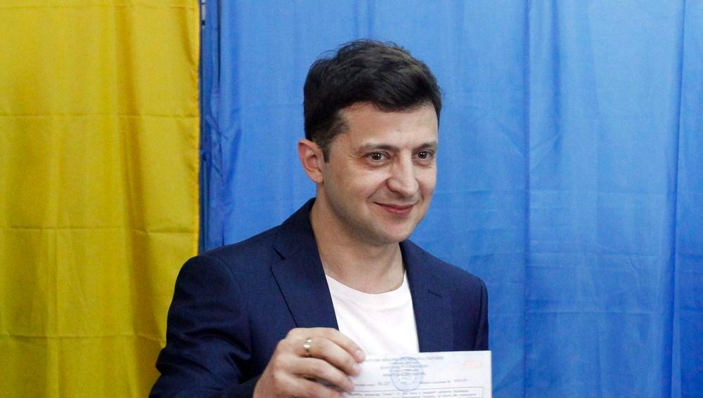 Vladímir Zelenski, gran favorito a la victoria en las elecciones presidenciales
