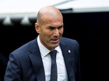 Zinedine Zidane, en el Santiago Bernabéu