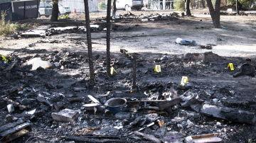 Incendio en un campamento de inmigrantes en Huelva