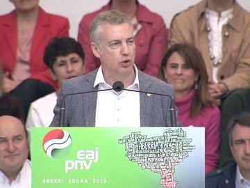 """Urkullo dice que defender y promover Euskadi """"es trabajar cada día para ampliar y profundizar nuestro autogobierno reconocido"""""""