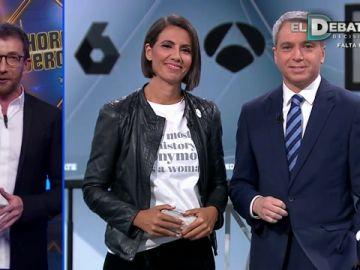 Ana Pastor y Vicente Vallés adelantan a Pablo Motos todos los detalles de 'El Debate Decisivo' en Atresmedia