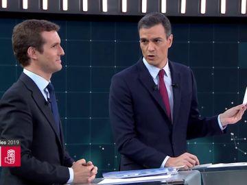 """Sánchez, a Casado sobre las iniciativas que el PP ha firmado con Bildu en el País Vasco: """"¿De qué color tiene manchadas las manos?"""""""