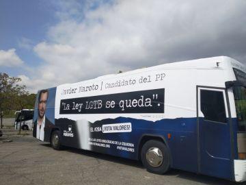 Imagen de uno de los autobuses de Hazte oír