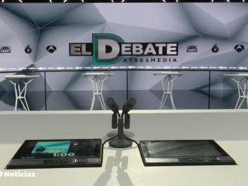 El plató del debate decisivo de Atresmedia