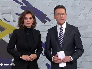 Mónica Carrillo y Matías Prats, presentadores de Antena 3 Noticias Fin de Semana