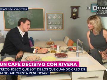 """Albert Rivera se toma el café decisivo con Susanna: """"He vivido estos 12 años en política con intensidad pero no cambiaría nada"""""""