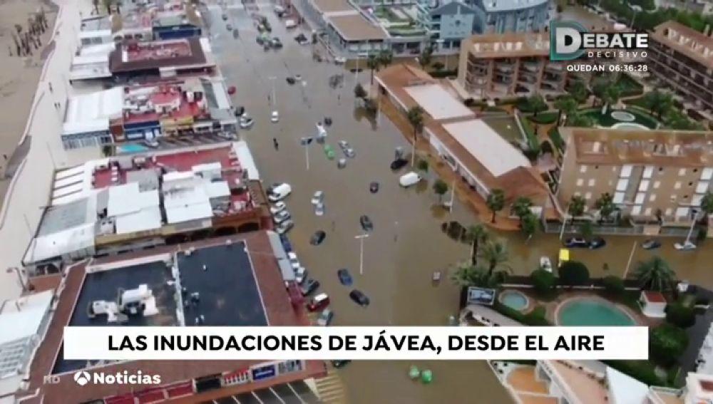 Las impresionantes imágenes aéreas captadas por un dron muestran las terribles inundaciones en la Comunidad Valenciana