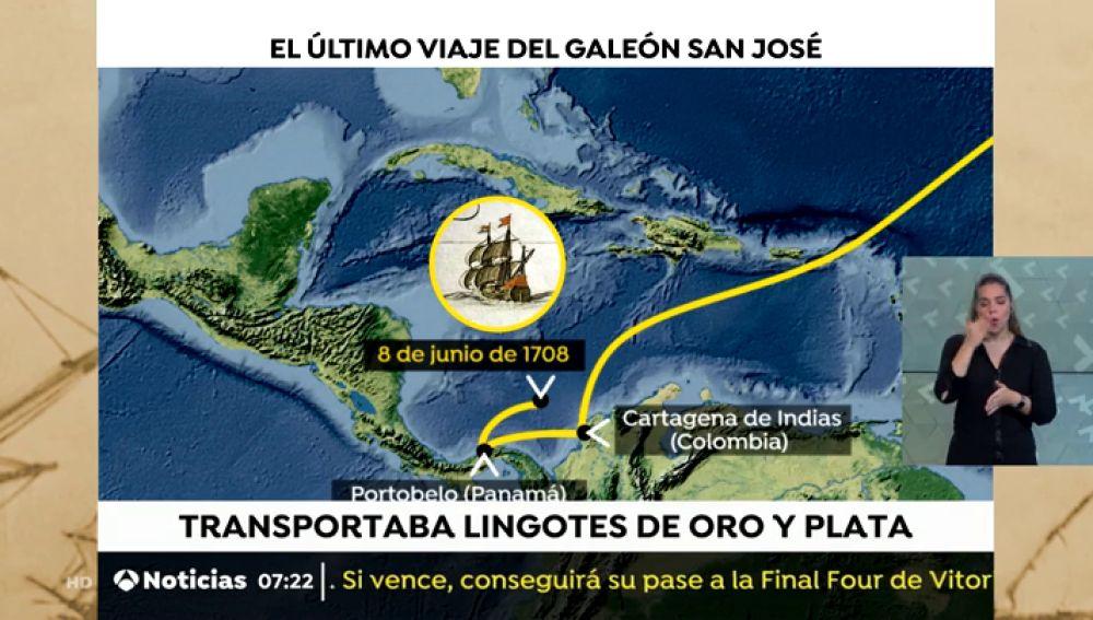 Un tribunal colombiano embarga el tesoro del galeón San José