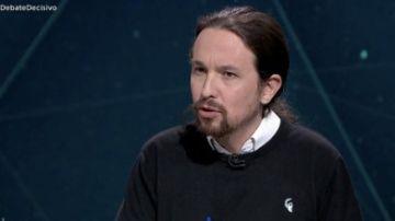 Imagen de Pablo Iglesias durante el Debate Decisivo