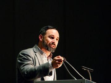 Imagen de Santiago Abascal en un acto electoral