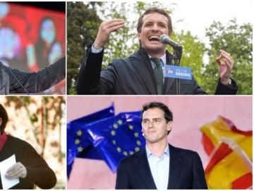 Los cuatro candidatos de PSOE, PP, Podemos y Ciudadanos