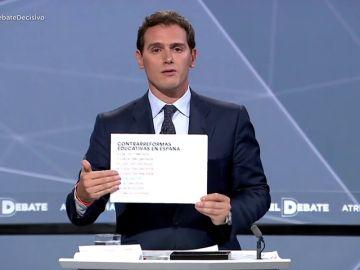 Rivera quiere Constitución y castellano en todos los colegios