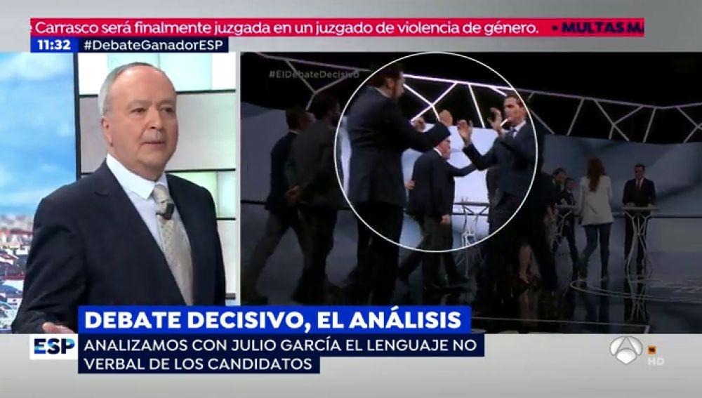 """Un experto en lenguaje no verbal analiza la actitud de los candidatos en el debate: """"Tenían que seducir más"""""""