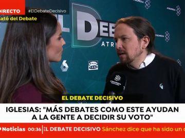 La valoración de Pablo Iglesias tras 'El Debate Decisivo'