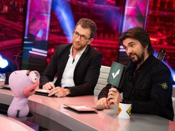 Trancas y Barrancas juegan con la psicología de Juanes y Pablo Motos en 'La Voz al revés' de 'El Hormiguero 3.0'