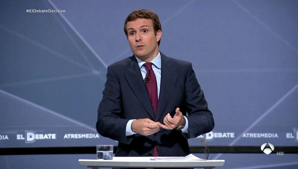 Pablo Casado, en el debate decisivo
