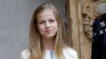 La princesa Leonor durante la Misa de Pascua en Mallorca