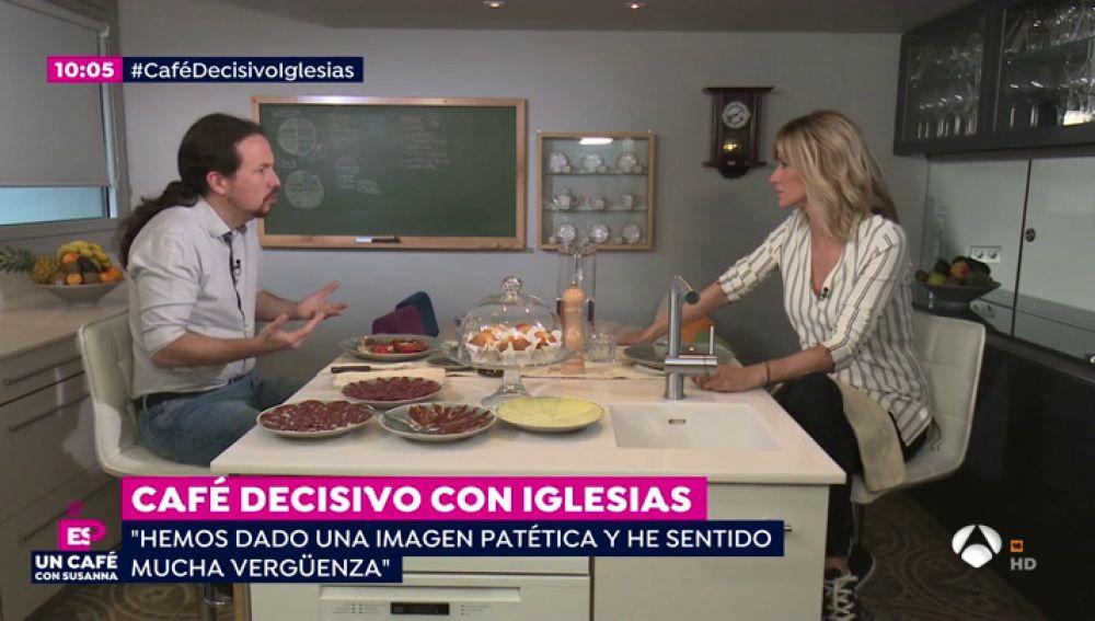 """Pablo Iglesias se toma el café decisivo con Susanna antes de las elecciones: """"Nos hemos comportado como los partidos a los que hemos criticado"""""""