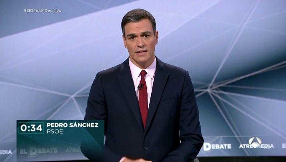 El 'minuto de oro' de Pedro Sánchez en 'El debate Decisivo': XXX