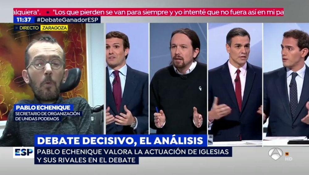 Pablo Echenique valora el debate