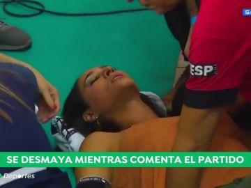 Susto en Brasil: una leyenda del voleibol se desmaya en plena entrevista