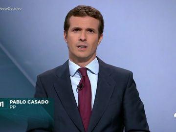 El 'minuto de oro' de Pablo Casado en el debate de Atresmedia