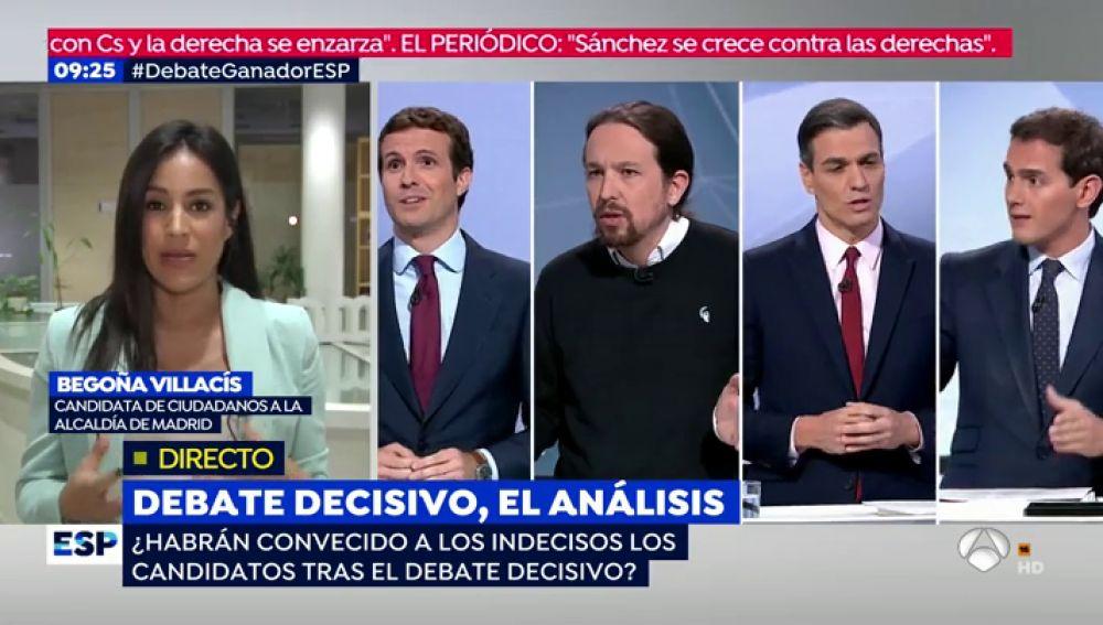 """Begoña Villacís (Ciudadanos): """"El voto indeciso se parece mucho a nuestro votante"""""""