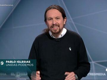 El 'minuto de oro'  de Pablo Iglesias en el debate de Atresmedia