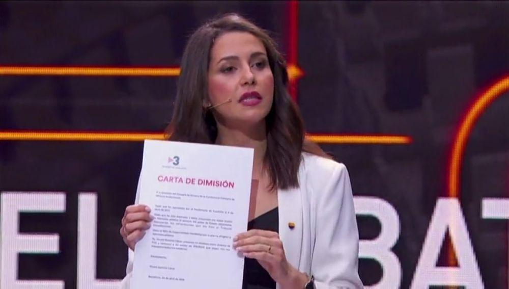 Arrimadas y Álvarez de Toledo arremeten contra el moderador del debate electoral de TV3
