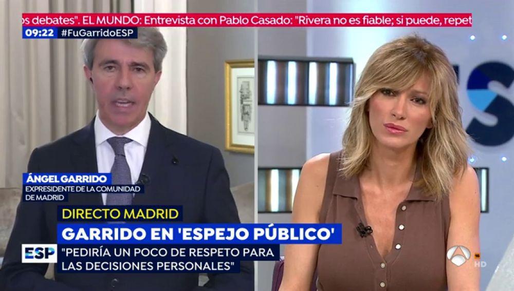 Ángel Garrido responde a Susanna Griso