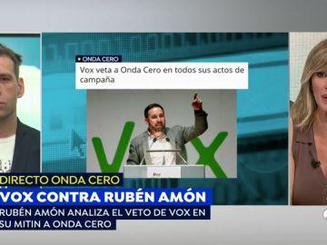 Rifirrafe entre Santiago Abascal y Rubén Amón